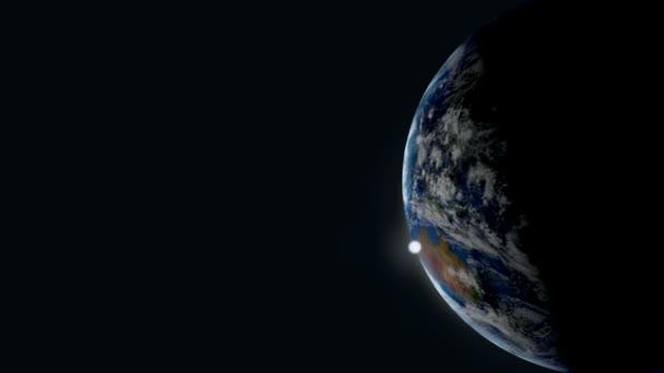 země slunce pohledu z vesmíru