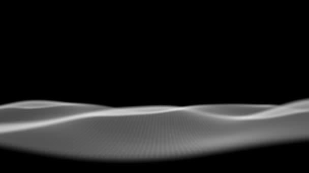 abstraktní pozadí vlny v černé a bílé