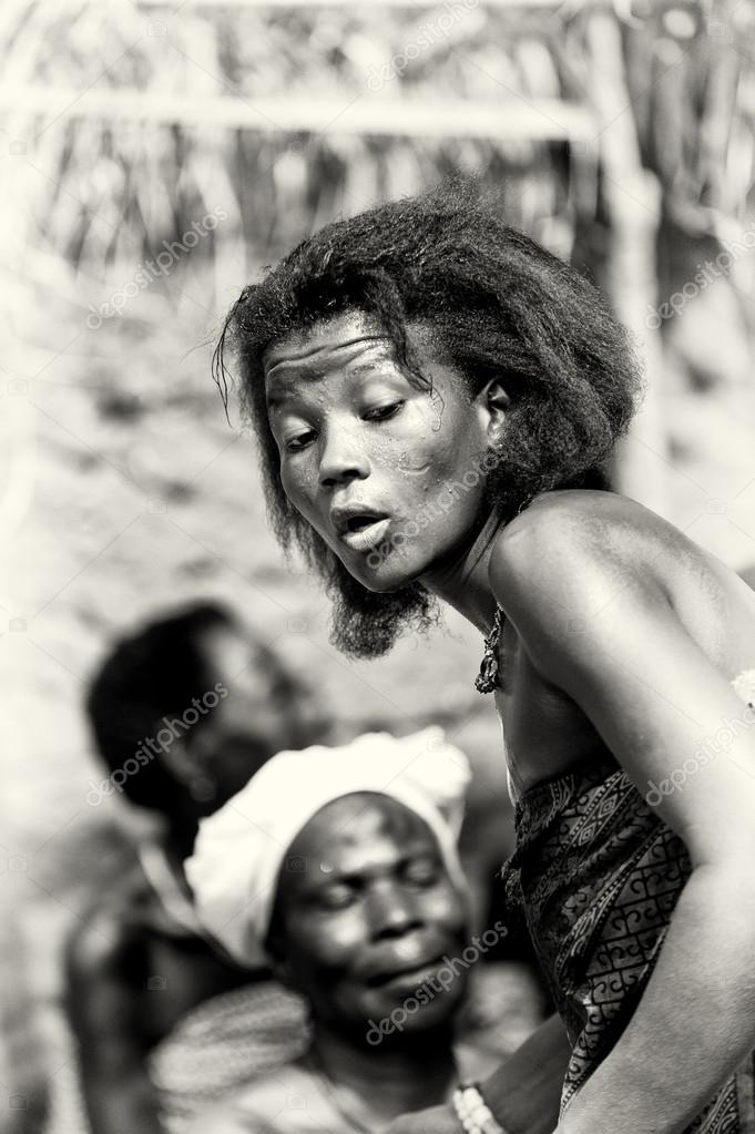 Dance of a woman from Togo