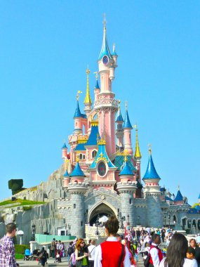 Walt Disney castle in Disneyland in Paris, France