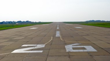 Runway of the airport of Dnipropetrovsk, Ukraine