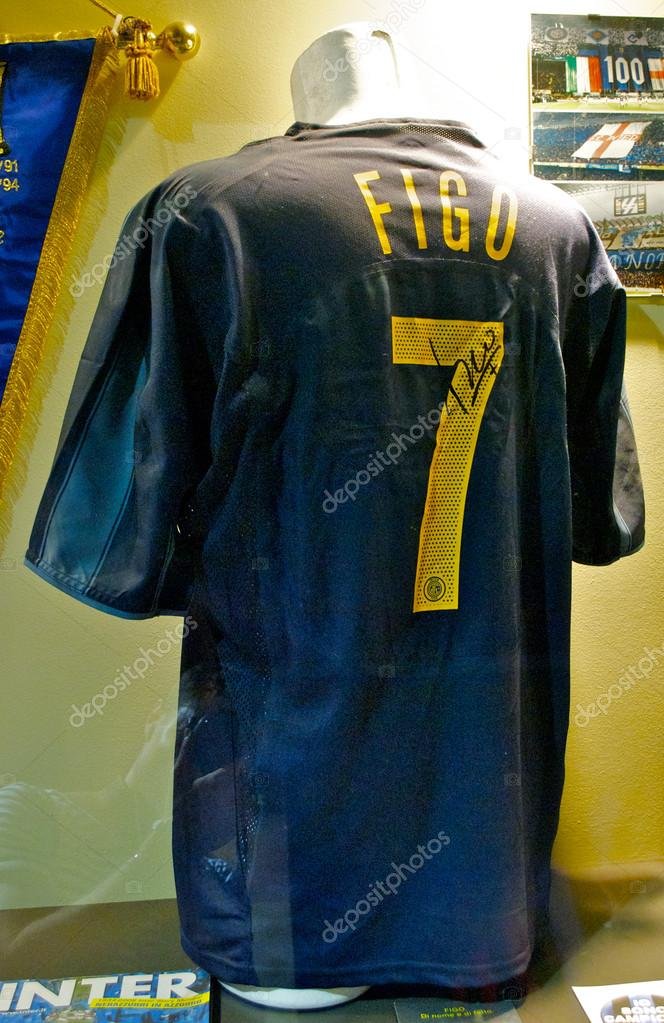 sneakers for cheap 5bdda 043ba Inter shirt of Luis Figo, number 7, at the Inter Milan ...