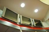 TV-képernyők, öltöző, az Ac Milan