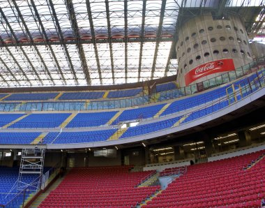 South tribune in San Siro or Giuseppe Meazza Stadium in MIlan