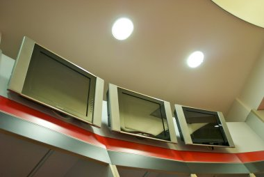 TV screens in the changing room of AC Milan