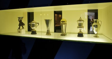 Inter Milan 5 trophies in their museum