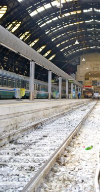 Rail way on the Milan central station