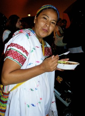 Woman from Mexico eats