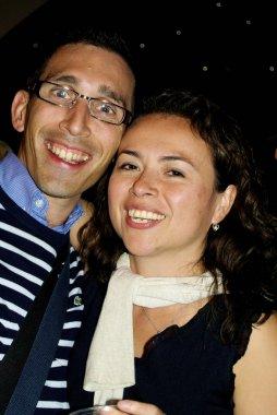 French Mexican couple during the holiday of Mexico in Paris