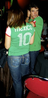 Girl from Mexico in a T-shirt of Mexico with number 10
