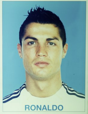Cristiano Ronaldo on the first day in Real Madrid