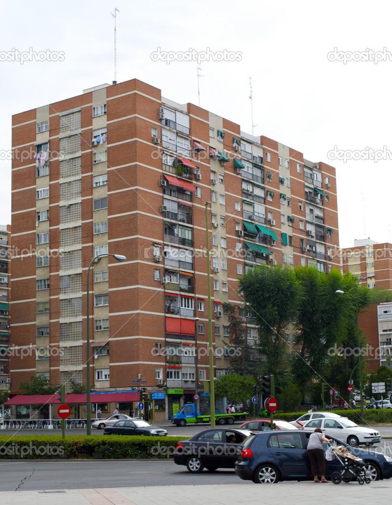 barrio del pilar madrid espa a foto editorial de stock