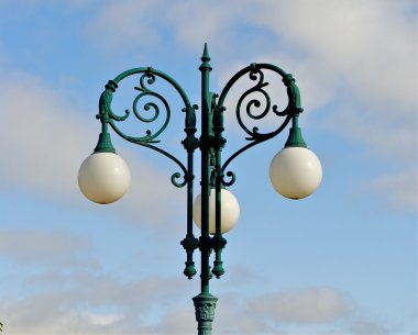 Lamp post wth a sky as a back ground