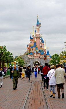 Main street and the castle forward