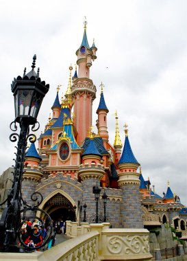 Part of the Sleeping beauty castle in the Disneyland of Paris