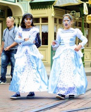 Little girls in a clear fairy dress