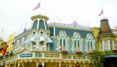 Part of the building in the Disneyland