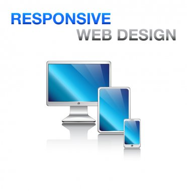 Responsive design for web: computer screen, smartphone, tablet icons set