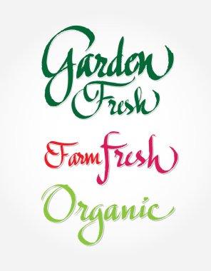 Arden fresh, farm fresh, organic - original handwritten calligraphy for your logo, website, package or advertisement