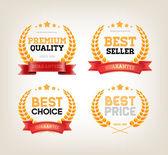 Fotografia quattro vector collezione vintage distintivi best choice, premio qualità, Best-Seller ,miglior prezzo