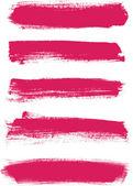Fotografia insieme di tratti pennello rosa vettoriale