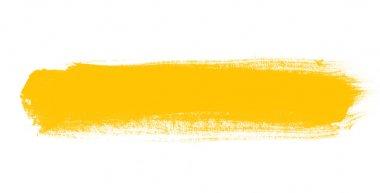 Yellow hand painted brush stroke daub background