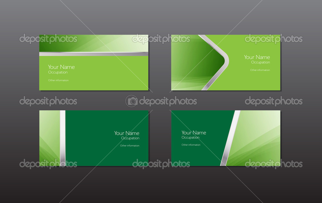 Abstract green vector business cards - banners collection — Stock ...