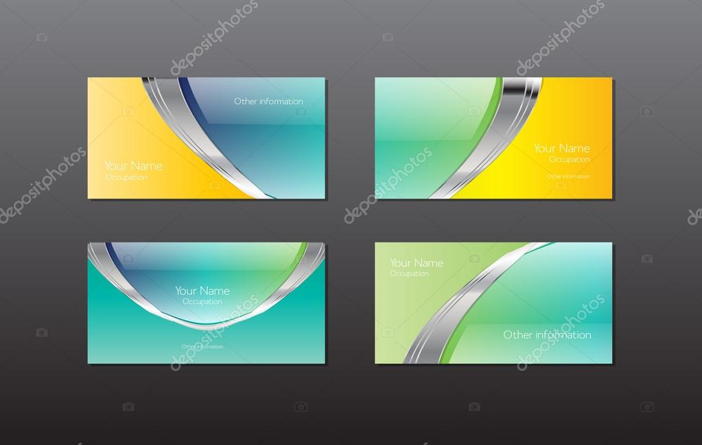 Abstract vector business cards - banners collection - glossy ...