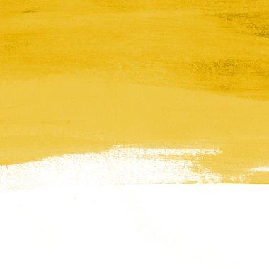 Yellow abstract hand-painted brush stroke daub background