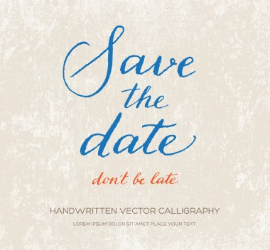 Save the date, don't be late.