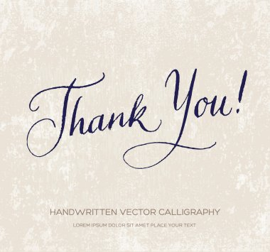 Thank you. Vector card - poster.