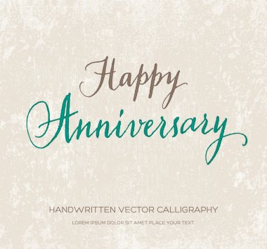Happy anniversary vector greeting card
