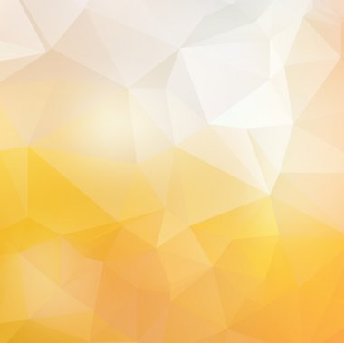 Light yellow soft subtle vector abstract polygonal background.