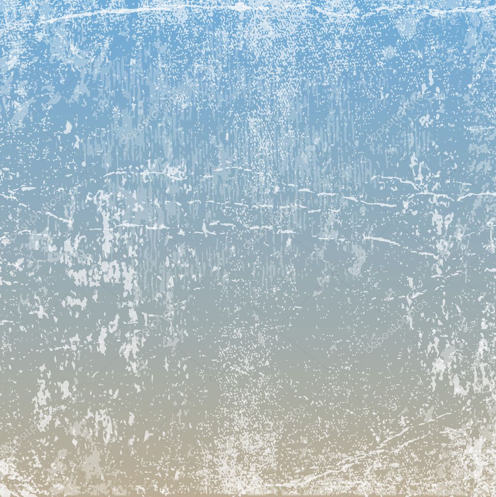 Vector retro grungy messy scratched light beige and blue paper background.
