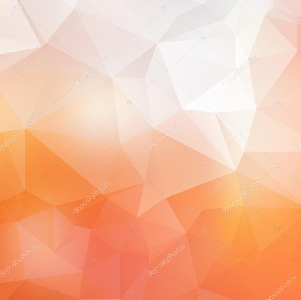 Light orange soft vector abstract polygonal background. — Stock ... for Background Pattern Light Orange  166kxo