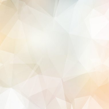 Light soft colors subtle vector abstract polygonal background.