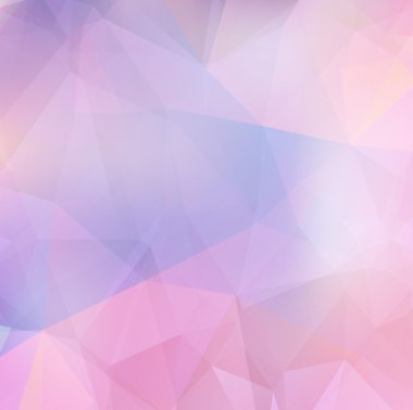 Light purple soft subtle vector abstract polygonal background.