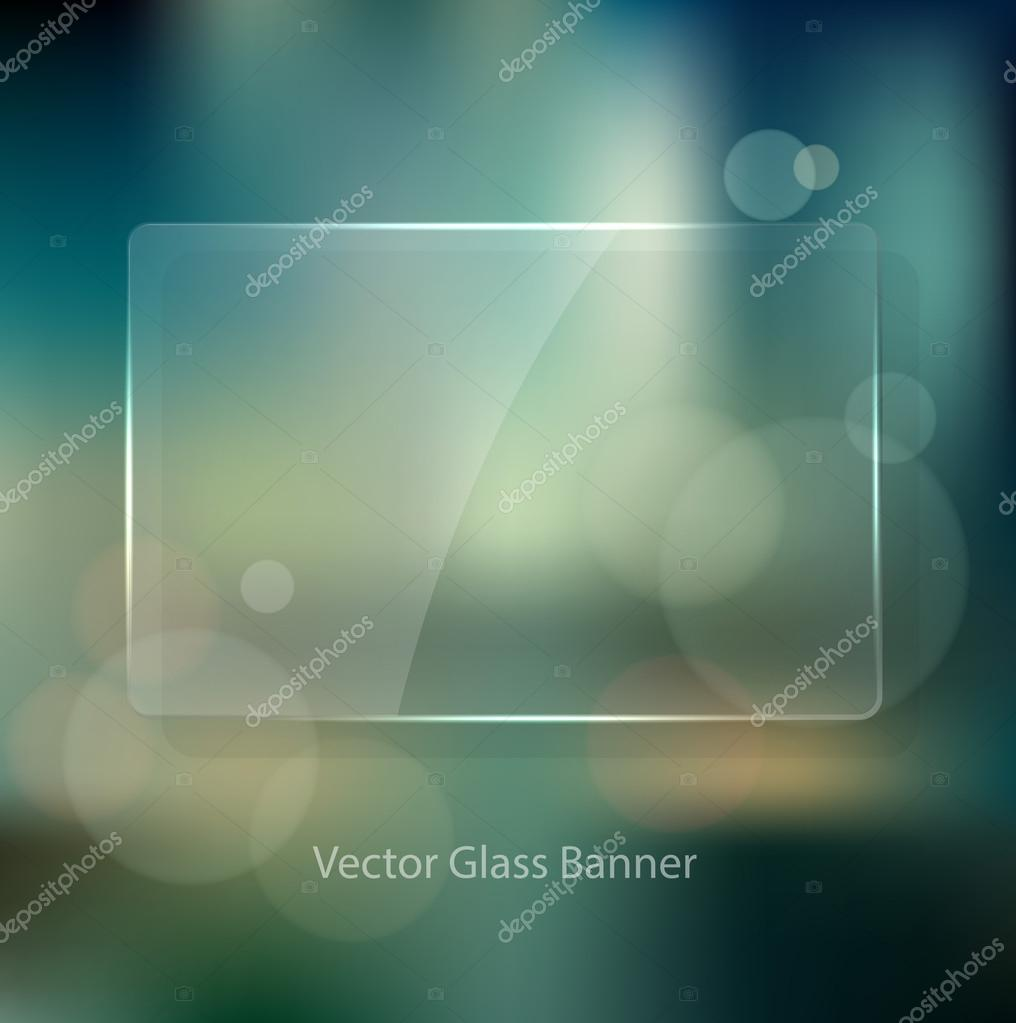 Vector vintage soft blurry background in the style of an unfocused film photograph with bokeh and glass badge.