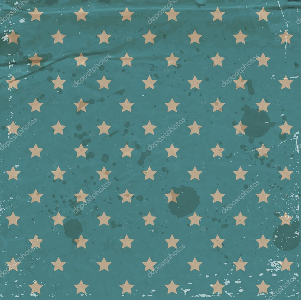 Vector old blue used dirty craft paper vintage background with vector old blue used dirty craft paper vintage background with stars pattern stock vector jeuxipadfo Image collections