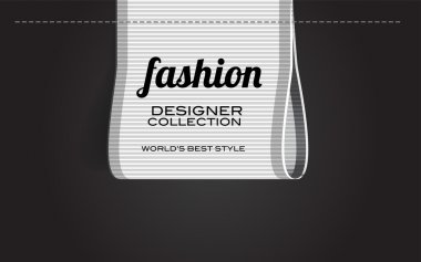 White vector fashion textured ribbon clothing label