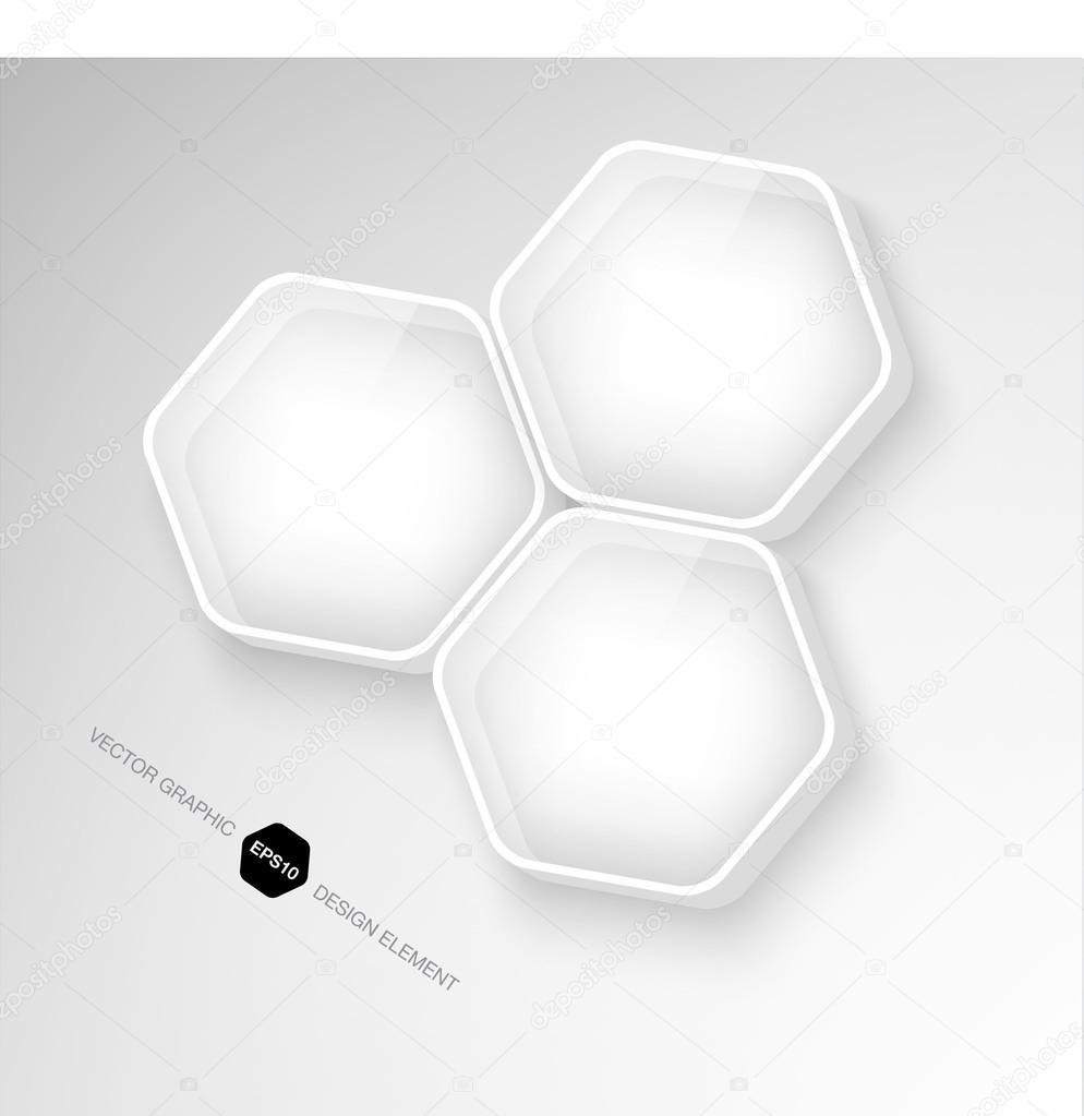cristal transparente hexagonal 3d moderna y cajas de plástico ...