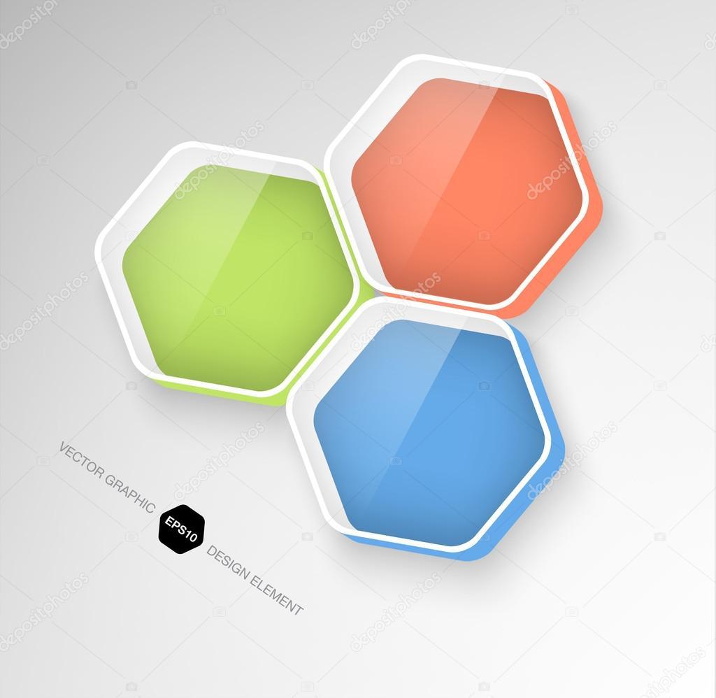 modernas cajas hexagonales infografía 3d — Vector de stock ...
