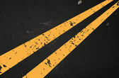 Photo Vector textured asphalt road with cracked yellow marking