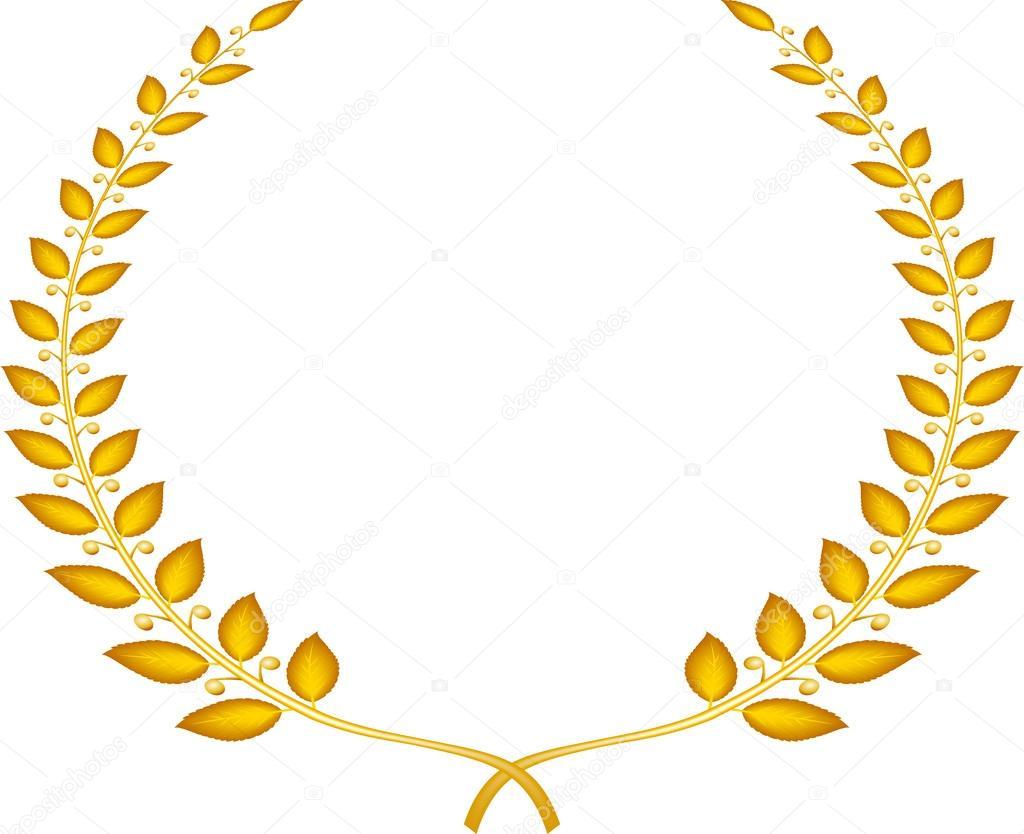 Coroa De Louros Dourada De Vetor