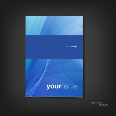 Brochure - booklet cover design template clip art vector