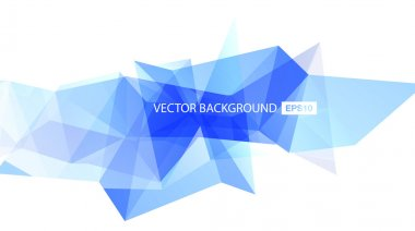 Light blue vector abstract polygonal background
