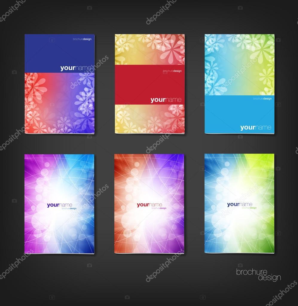 Colorful vector brochure