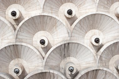 The abstract architecture design details of Cascade, Yerevan , Armenia