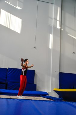 Competitions on the jumps on trampoline