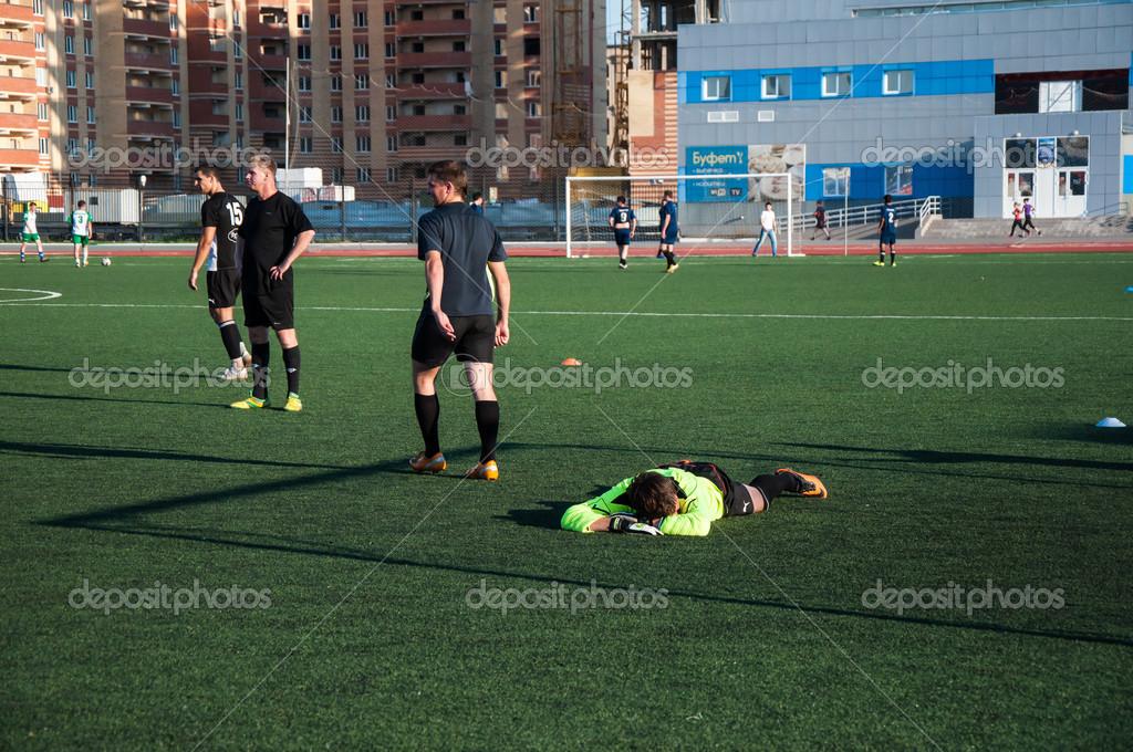 jeu de football le nombre de gardien de but 20 — Photo éditoriale ... 548f2d6a938
